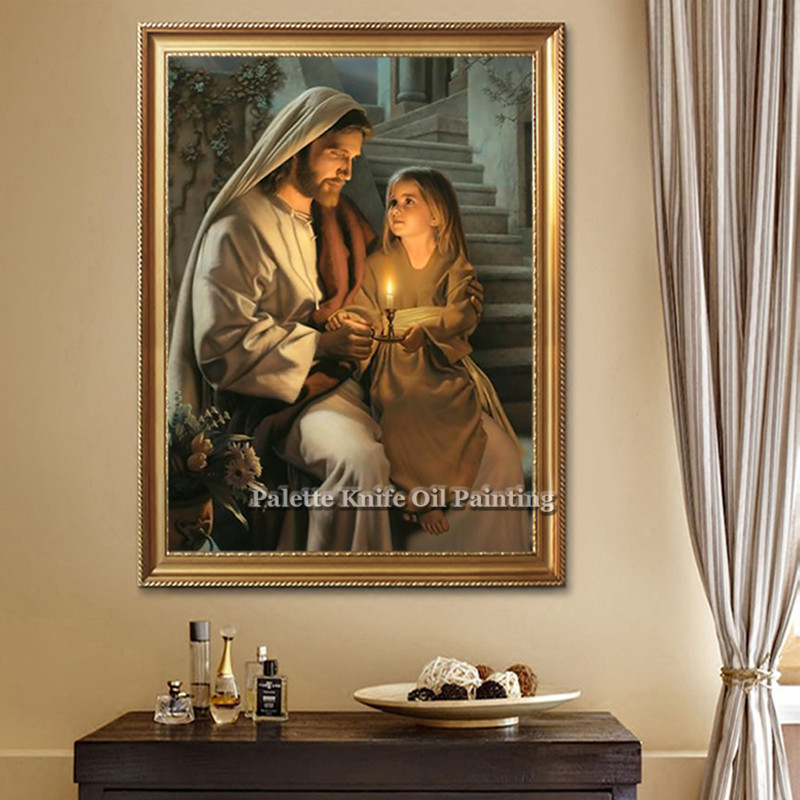 Jesus Christ LDS Canvas Painting Posters and Prints Christian Lord ...