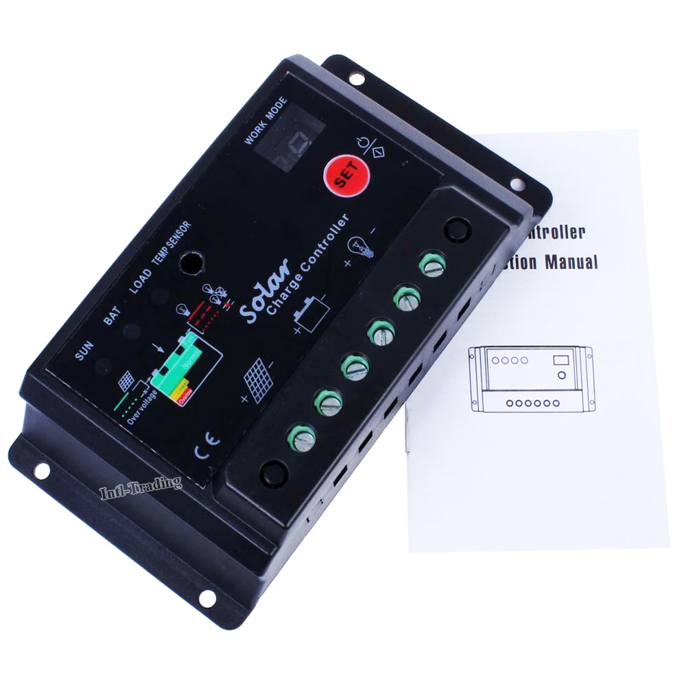 Intelligent 20a Solar Charge Controller Pwm Battery Regulator 12v 24v Panel Safe Protection Auto Switch For Kit Light Lamp In Controllers From