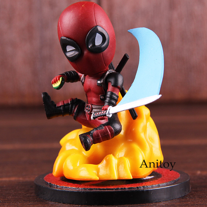 Action Figures Marvel Deadpool Comics Mini Egg Attack Series MEA-004 Deadpool PVC Collectible Model Toy image