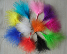 Wholesale!5000Pcs/lot 7-10CM Multicolor BLOOD QUILL TURKEY MARABOU FEATHERS 11colours available freeshipping