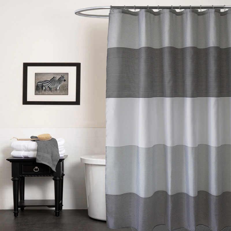 عرضية المشارب البوليستر النسيج الحمام الستار ديكور دقيقة دش مقاوم للماء الستار جودة عالية ثبات حمام الستائر
