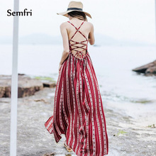 Semfri Strapless Beach Maxi Dress Summer Woman Solid Party Night A Line Dress Wrapped Chest Casual Dress 2019 Holiday Vestidos цена и фото