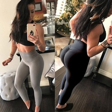 Leggings Femme Sexy Push Up Leggings Women Elastic Workout Pants Fashion Ladies Fitness High Waist Leggings Plus Size 10 Colors