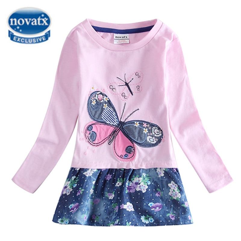 Girls Clothes Girls Dress Princess Dress For Girls Nova Kids Clothing Butterfly Winter Autumn Mini Girls Dresses 2016 H5460
