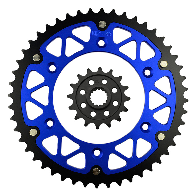 High Performance Motorcycle 16T Front & <font><b>48T</b></font> Rear <font><b>Sprocket</b></font> Kit Sit For KTM LC4-E 640 Supermoto 2000-2002 image