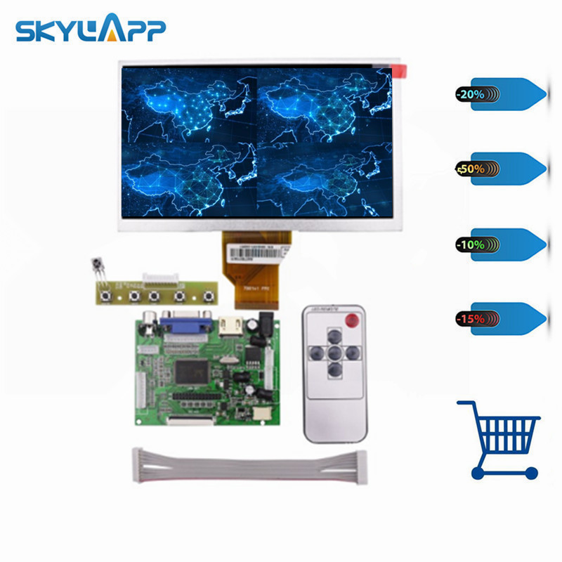 Skylarpu 7''inch LCD Display Screen 800*480 TFT Monitor for AT070TN90 HDMI VGA Input Driver Board Controller for Raspberry 3 5 inch touch screen tft lcd 320 480 designed for raspberry pi rpi 2