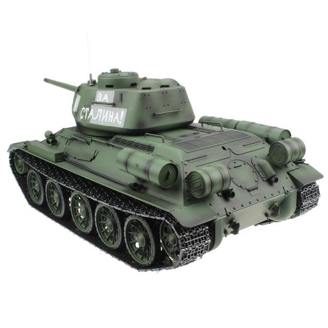 2.4G 1/16 Russian Army T34 T-34/85 RC Battle Tank World War II Model Gift Toy