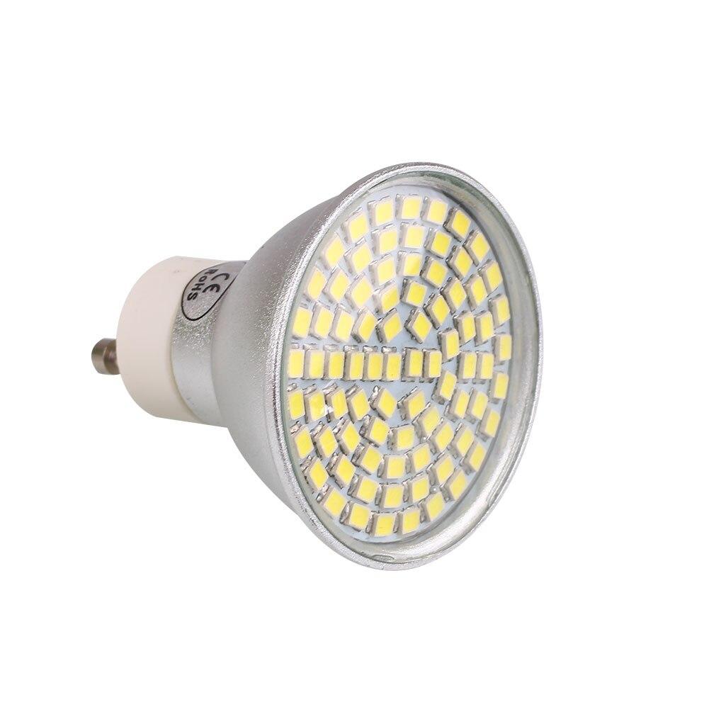 LED Bulb GU10 Socket 80 3528 SMD LED Soft Spotlight Spot Light White Aluminum Shell 9W watt AC 220V 800Lm 6500K