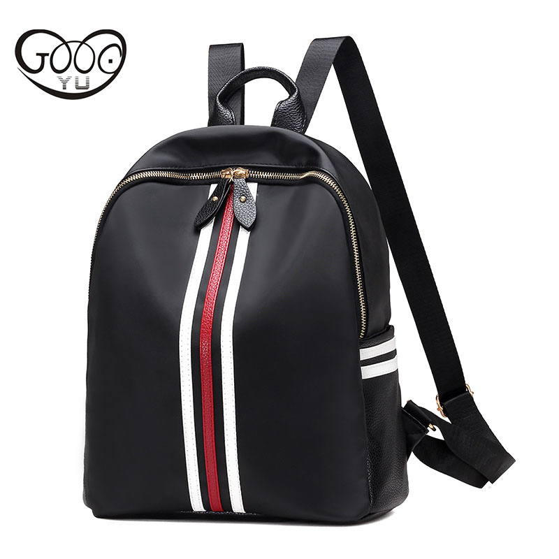 Oxford cloth waterproof travel bag vertical section square shoulder bags Ribbon decoration of the multi functional