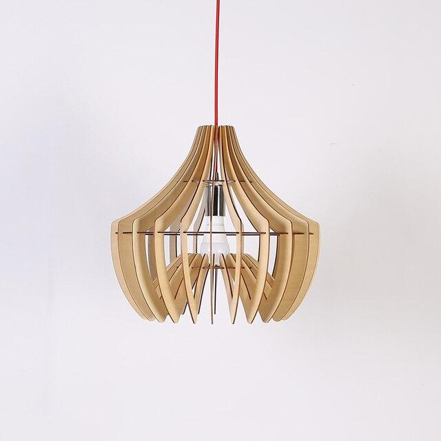 Personalisierte Honeycomb Led Pendelleuchten Wohnzimmer Esszimmer Massivholz Anhnger Lampen Amerikanischer Rustikalen Free Verschiffen