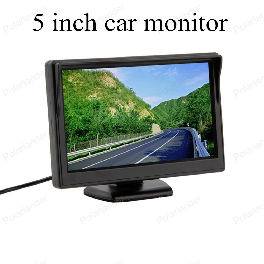 5 inch TFT color digital lcd car monitor small display for vehicle assistance reversing parking backup rear view camera sale