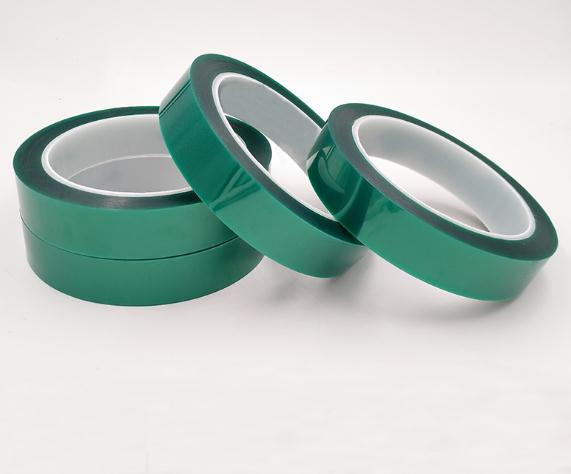 33m PET green silicone high temperature adhesive tape solder protect coating sticky PCB electroplate mask shield tape