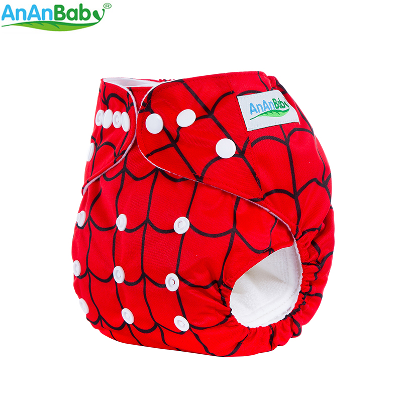 Ananbaby Cloth Diaper Baby Waterproof Reusable Diapers Infant Baby Nappy Cover Couches Lavables Adjustable Cotton Diapers 1 Si