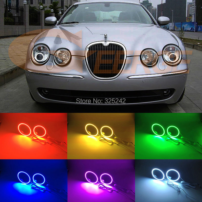 For Jaguar s type S-type 2003 2004 2005 2006 2007 2008 HID HEADLIGHT Excellent Multi-Color Ultra bright RGB LED Angel Eyes kit авита ру продать камаз зерновоз 2003 2005 года