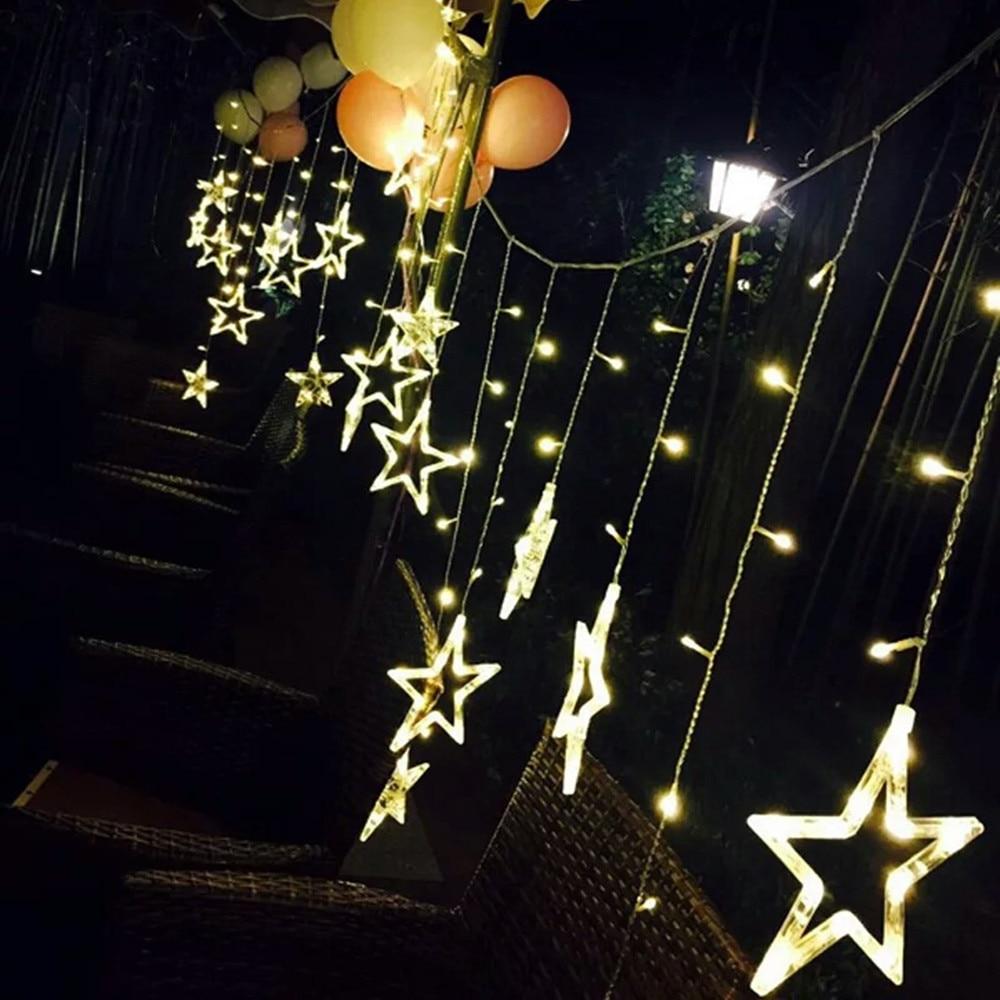 Star LED Light String Living Room Bedroom Valentines Day Nightclub KTV Party Decoration Lamps 25m