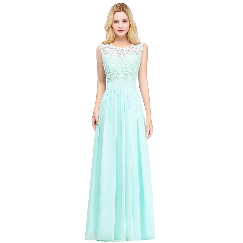 832d9048fd9 Robe demoiselle d honneur Country Style Mint Green Long Lace Bridesmaid  Dresses 2019 Chiffon Prom Dresses Wedding Party Gown-in Bridesmaid Dresses  from ...