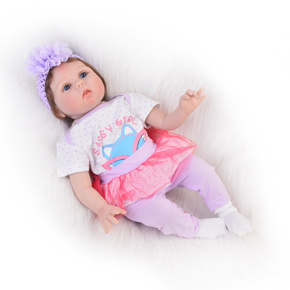 NPK Lifelike Fiber Hair Babies Doll 22 Inch Soft Silicone Reborn Baby Dolls Wear Clothes So Truly Kids Playmates Birthday Gifts npk lifelike 16 soft silicone reborn baby dolls truly pretty girl reborns realistic babies doll wear dress toddler playmate
