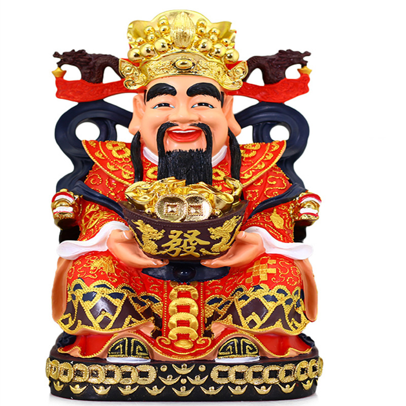 The latest technology of coloured drawing or pattern, god of fortune of Buddha gods lucky increase furnishing articles and house