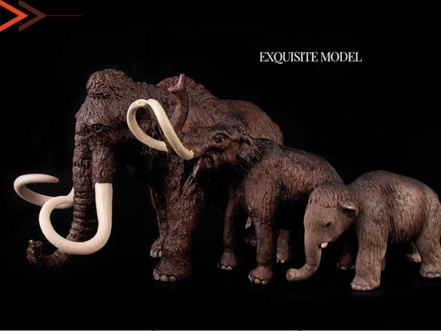 Original wild Animal extinct woolly mammoth family set figurine kids  educational Figure children toy gift eac1e1b73