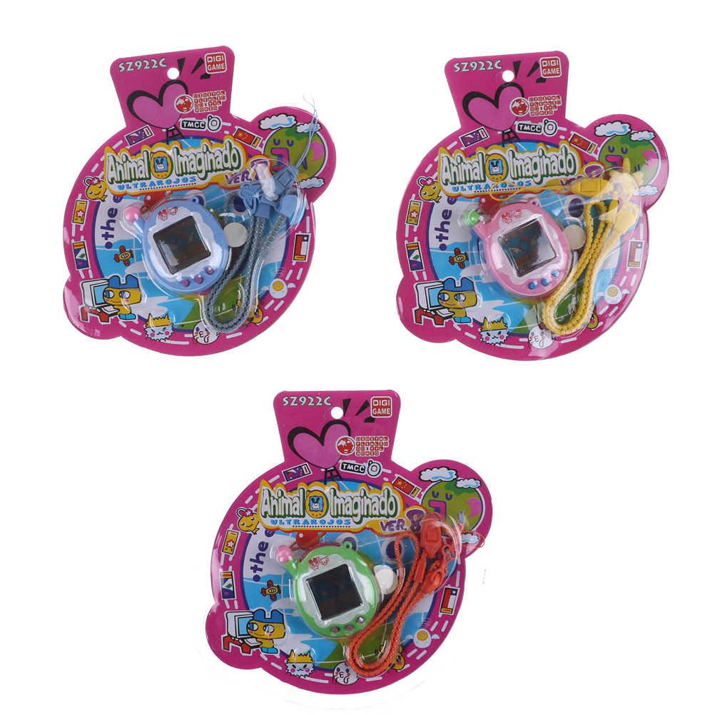 1 ST Virtuele Cyber Digitale Huisdieren Elektronische Tamagochi Huisdieren Retro Game Grappig Handheld Game Machine Gift Voor Kids 3*2.8 cm