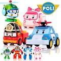 Kids Toys Robocar Poli Toy Korea Robot Anime Action Toy Figures Transformation Toys For Children 4pcs/Set