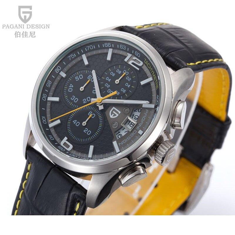 Prix pour 2016 Montres hommes marque de luxe Pagani Design de mode Quartz Montre Chronographe sport montre bracelet En Cuir Casual relogio masculino