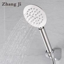 Zhang Ji High Quality Whole Stainless Steel Ultrathin 10cm Big Hand Shower Head Water Saving Nozzle Sprayer Rainfall Shower Head
