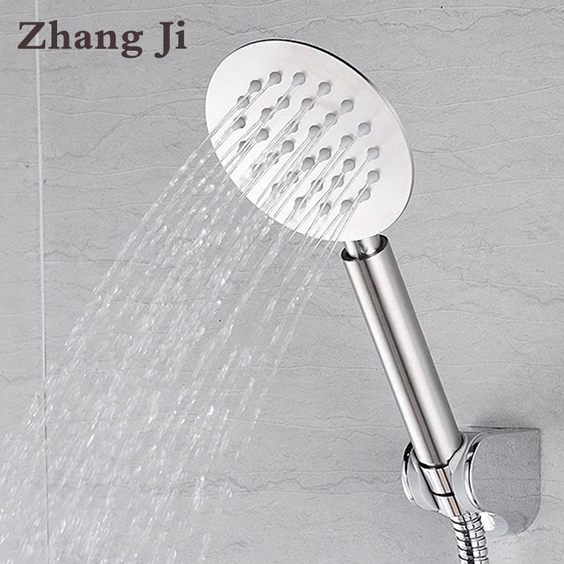 Zhang Ji High Quality Whole Stainless Steel Ultrathin 10cm Big Hand Shower Head Water Saving Nozzle Sprayer Rainfall Shower Head