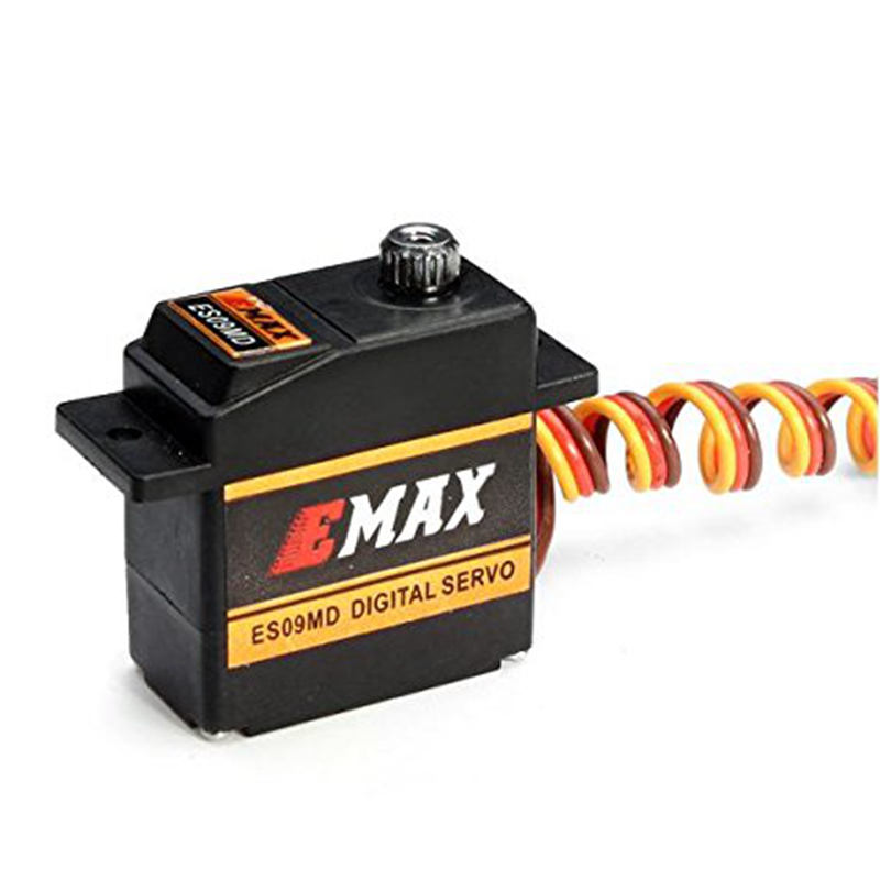 FATJAY EMAX ES09MD digital swash servo metal gear dual bearing for RC 450 class helicopters