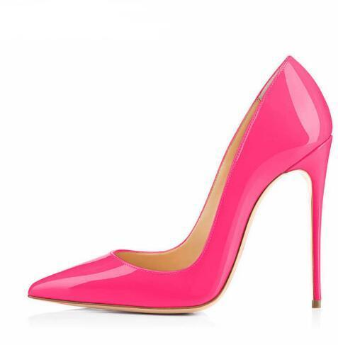 Big Sale Sexy Pointed Toe High Heel Pumps Patente Leather Thin Heels Woman Shoe 1