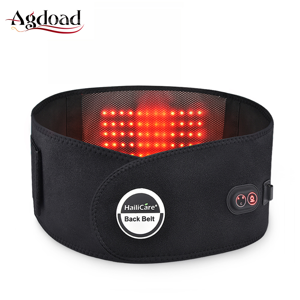 Electric Waist Back Belt Heat Therapy Back Brace Support Massage Lumbar Belt Lower Back Pain Reliever for Women Men Elderly Car(China)