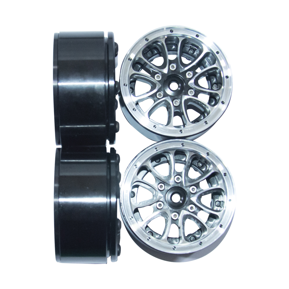Image 5 - 4PCS 1/10 Scale RC Car Crawler Wheel Rim 1.9Inch Heavy Duty Beadlock Alloy Spoke Wheel Rim For 1:10 RC4WD Axial SCX10 Tamiya D90-in Parts & Accessories from Toys & Hobbies