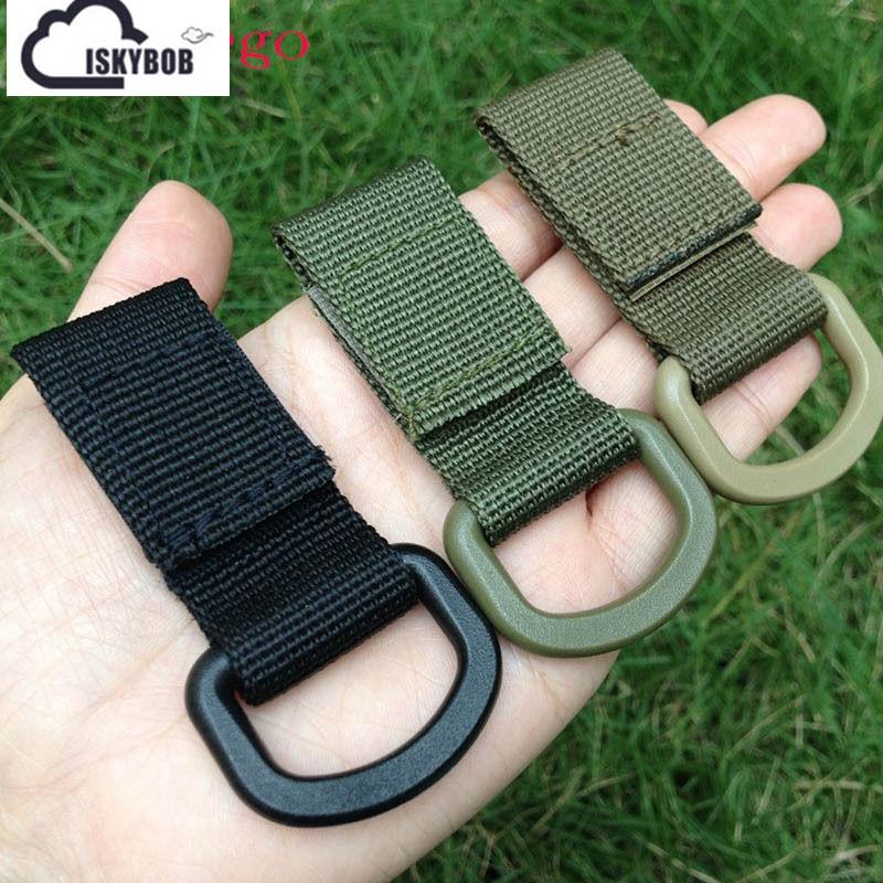 EDC Bag Tool Army Fan Carabiner Nylon Webbing Backpack Buckle Mini Clip Fashion