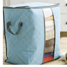 Portable Foldable  Non Woven Pouch Clothing Storage Box For Blanket Pillow Underbed Bedding H