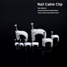 500pcs/lot Steel Circle Nail Clip 12mm cable clips suit for fix 2x4mm2 /3*1.5mm2/3x2.5mm2 Sheath line on the wall