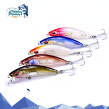 Купить с кэшбэком 1 PCS Fishing Lure Hard Bait Minnow dive 0.8-1.2m Wobblers  Fishing lure Accessories Slow Floater quality Wobblers  minnow