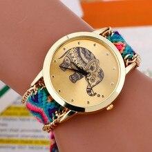 цена на Relojes mujer 2018 bayan saatleri Fashion Bracelet watch Women Braided Elephant Round dial Quartz Watch Clock Female wristwatch