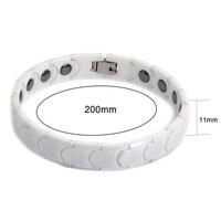 New 2016 Fashion White Ceramic Bracelet Femme Health Healing Magnetic Hematite Bracelets Bangles Vintage Jewelry Accessories