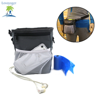 Lovoyager Pet Dog Treat Pouch Bag Training Carries Treats Toys Waste Bag Poop Bag Dispenser Adjustable