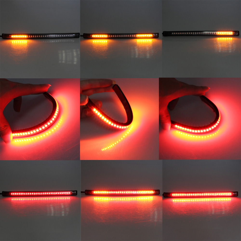Cafe racer led tail light strip caferacersjpg new universal flexible led motorcycle brake lights turn signal light aloadofball Gallery
