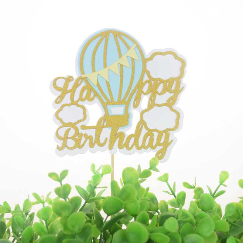 Cake Toppers Hot Air Balloon Cloud Cupcake Topper Cake Flags Kids Birthday Wedding Bride Party Baby Shower Baking DIY Decor in Cake Decorating Supplies from Home Garden