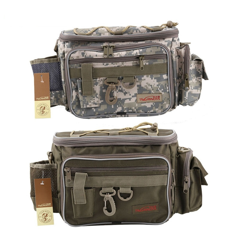 Trulinoya 40*19*15cm Waist Fishing Bag Multi Functional <font><b>Lure</b></font> Box Container Outdoor Fishing Tackle