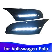 Дневные ходовые огни для Volkswagen Polo 2011 2012 2013 светодиодный DRL светодиодный противотуманные фары