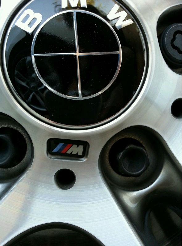 Pcs BMW M Wheel Sticker Badge Replacement M M M Steering Wheel - Bmw decals for wheels