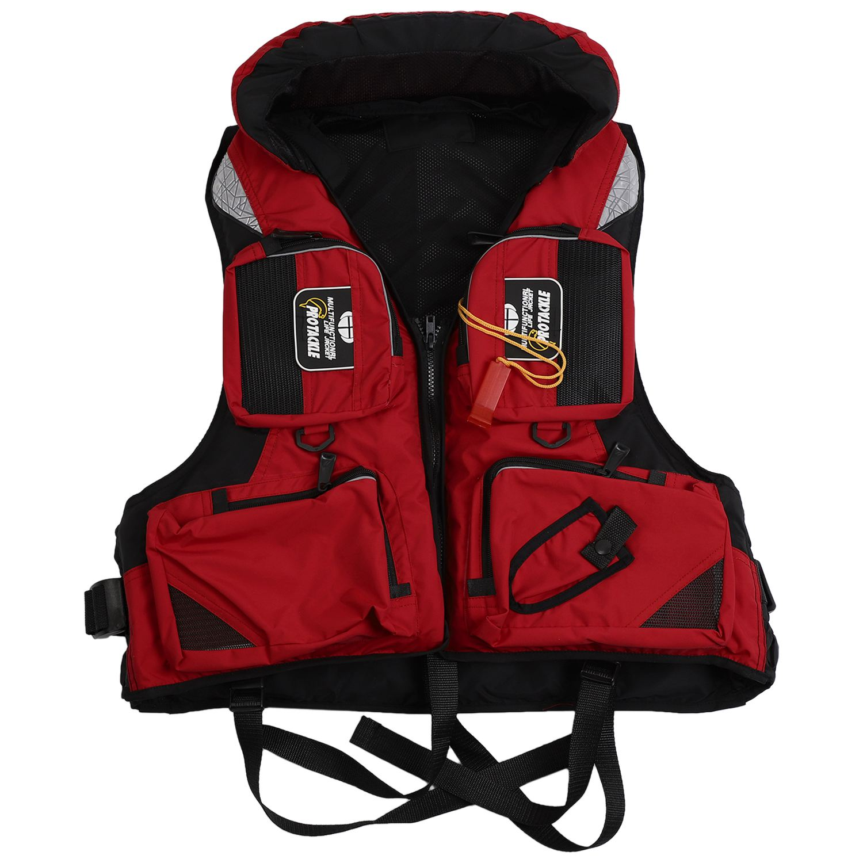 Adult Adjustable Buoyancy Aid Swimming Boating Sailing Fishing Kayak Life Jacket Vest Preservers professional adult life jacket neoprene life vest for men women boating fishing surfing kayak