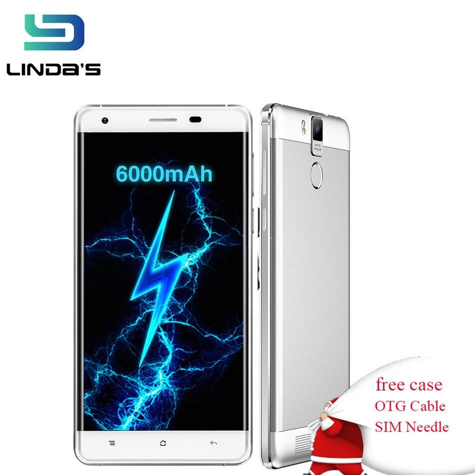 Цена за OUKITEL K6000 Pro Android 6.0 Сотовый Телефон 6000 мАч 3 ГБ RAM 32 Г ROM MTK6753 Octa Ядро Мобильного Телефона 16MP разблокирован Смартфон