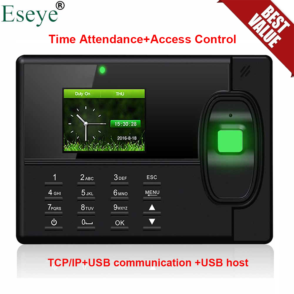 Eseye 1000Users Biometric Fingerprint Time Attendance System Fingerprint Time Clock Office Attendance Recorder Employee Machine eesye biometric fingerprint time attendance system time clock time recorder office employee electronic digital reader machine