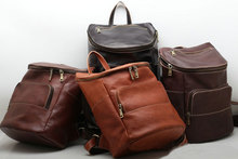 Crazy Horse Genuine Leather Luxury Men Vintage Backpack Man Cowhide Travel Casual Designer Male Retro Book Day pack Bag