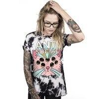 Women Summer Plus Size 3XL T Shirt Loose Style Women Multicolor Alien 3D Print Letter T
