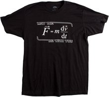 2017 fashion casual trend men t shirt May the (F=mdv/dt) Be with You | Funny Physics Science Unisex T-shirt